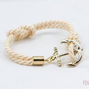 Ivory Nautical Anchor Bracelet , Na..